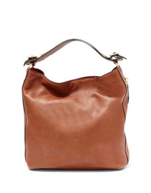 B Brian Atwood Colette Leather Bag - COGNAC/RED