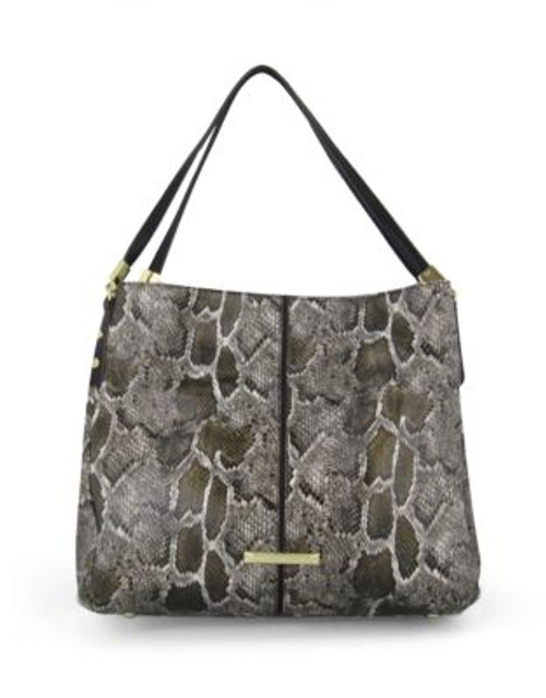 Anne Klein Kick Start Faux Alligator Hobo Bag - GREEN