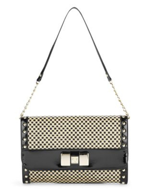 Anne Klein Check Mate Shoulder Bag - NATURAL