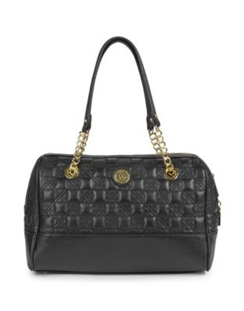 Anne Klein The Quilt Trip Midi Duffel Bag - BLACK