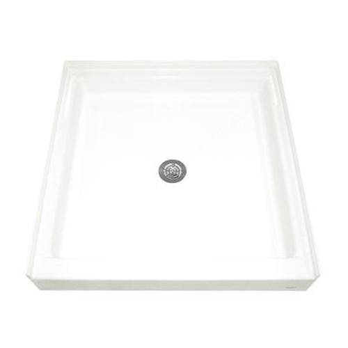 36-3/16 Inch x 36 Inch Single Threshold Shower Base in White