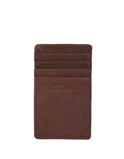Derek Alexander Double Side Credit Card/Id Holder - BROWN