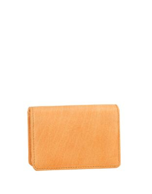 Derek Alexander Foldover Leather Card Holder - TAN