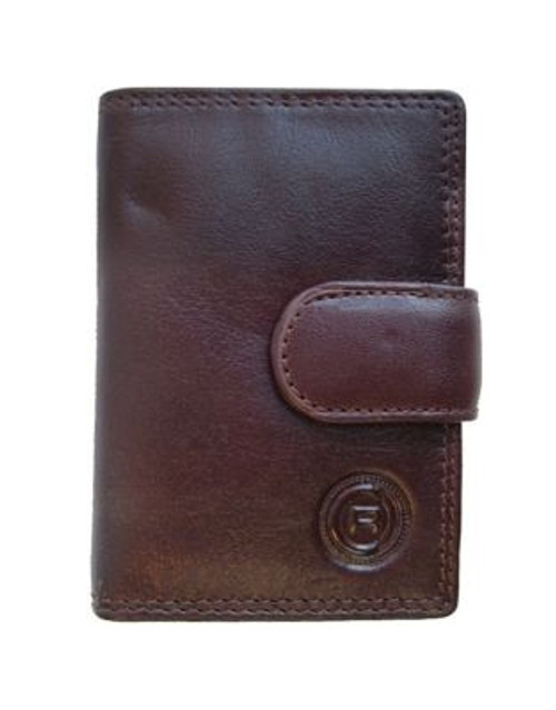 Club Rochelier Traditional Jumbo Card Holder - BROWN