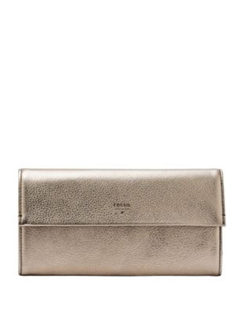 Fossil Leather Jewelry Roll Purse - SILVER METALLIC