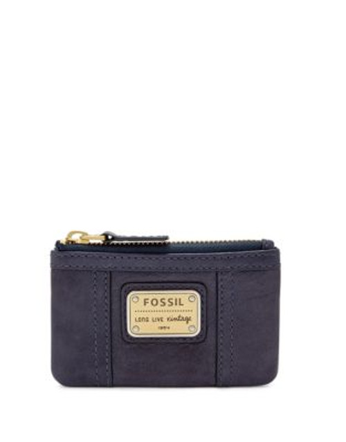 Fossil Emory Leather Zip Coin Pouch - MIDNIGHT NAVY