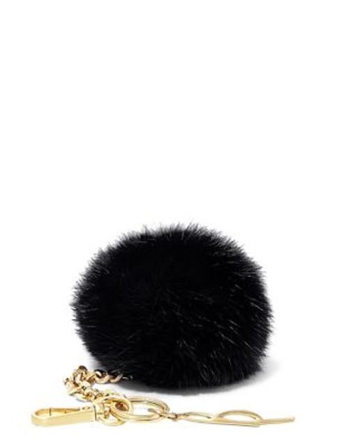 B Brian Atwood Bobbe Faux Fur Keychain - BLACK