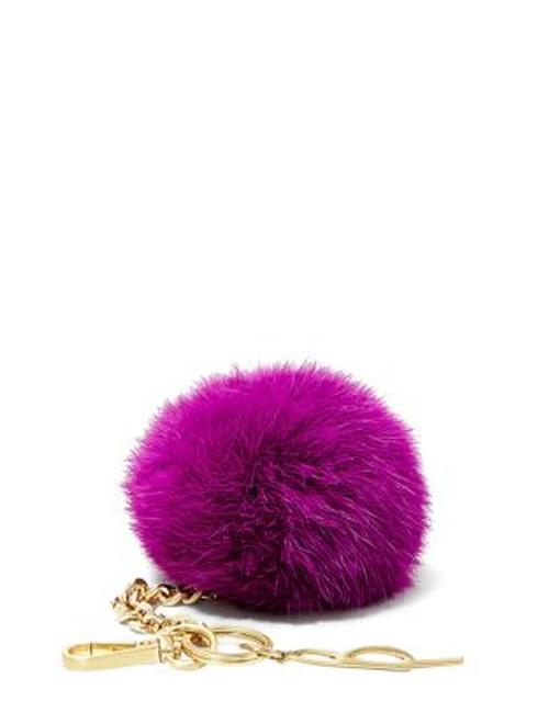 B Brian Atwood Bobbe Faux Fur Keychain - FUCHSIA