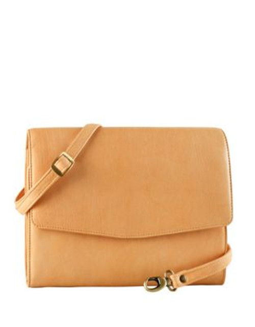 Derek Alexander Leather Tablet Case Bag - TAN