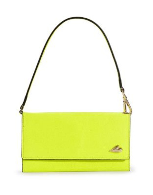 Diane Von Furstenberg IPhone6 Flip Wallet Carry Case - SHOCKING YELLOW