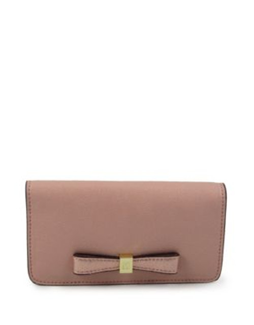 Anne Klein Faux Pebbled Leather Phone Case - BLUSH/ROSE GOLD