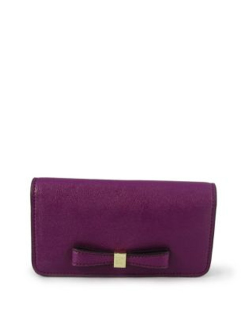 Anne Klein Faux Pebbled Leather Phone Case - MAGENTA