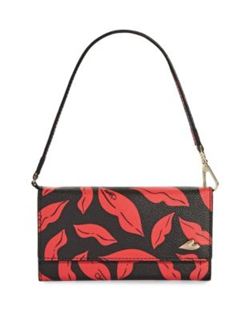 Diane Von Furstenberg Midnight Kiss iPhone 6 Wristlet - BLACK/RED