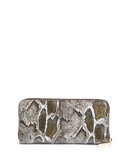Anne Klein Lizard Zip-Around Wallet - GREEN