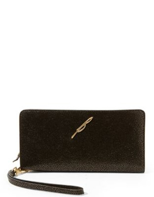 B Brian Atwood Belle Continental Wallet - CAVIAR