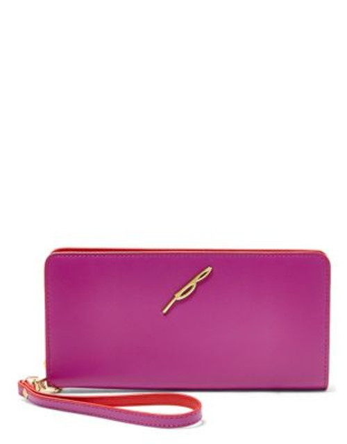 B Brian Atwood Belle Continental Wallet - FUCHSIA