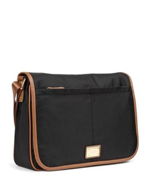 Calvin Klein Contrast Trim Messenger Bag - BLACK/GOLD