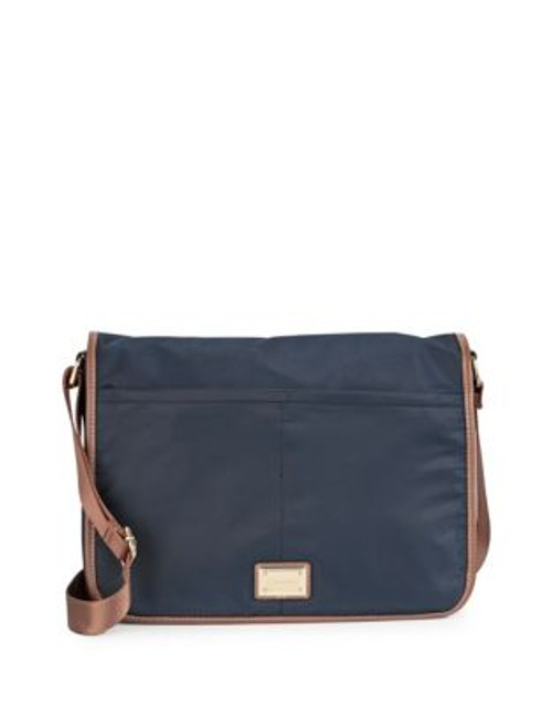 Calvin Klein Contrast Trim Messenger Bag - NAVY
