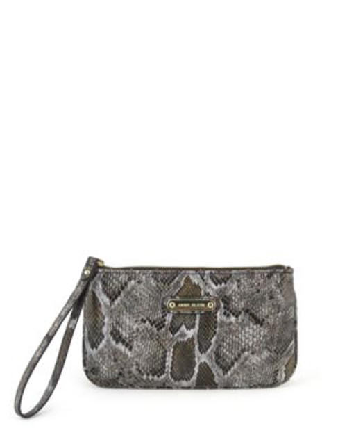 Anne Klein Alley Faux Alligator Wristlet - GREEN