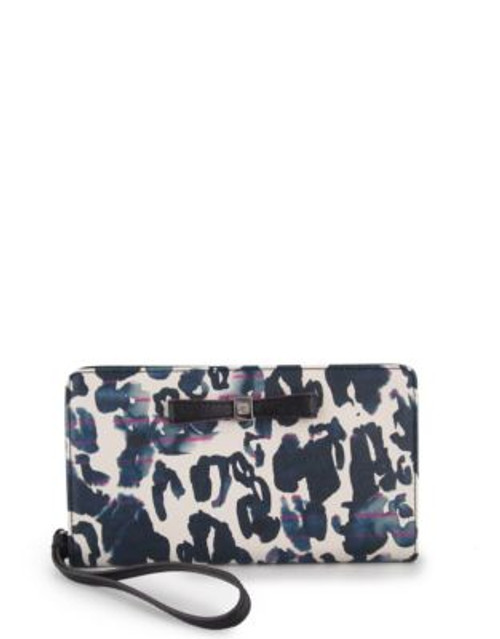 Anne Klein Printed Wristlet with Bow - CHEETAH MULTI