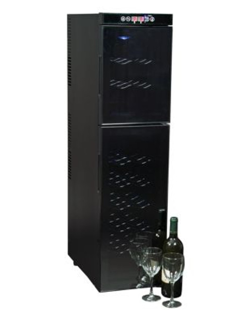 Koolatron Two-Door 18-Bottle Wine Cooler - BLACK