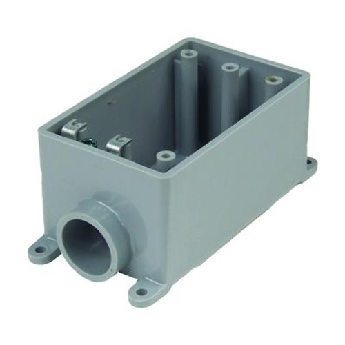 Outdoor Weatherproof FSE Single Gang PVC Device Box – 3/4 In