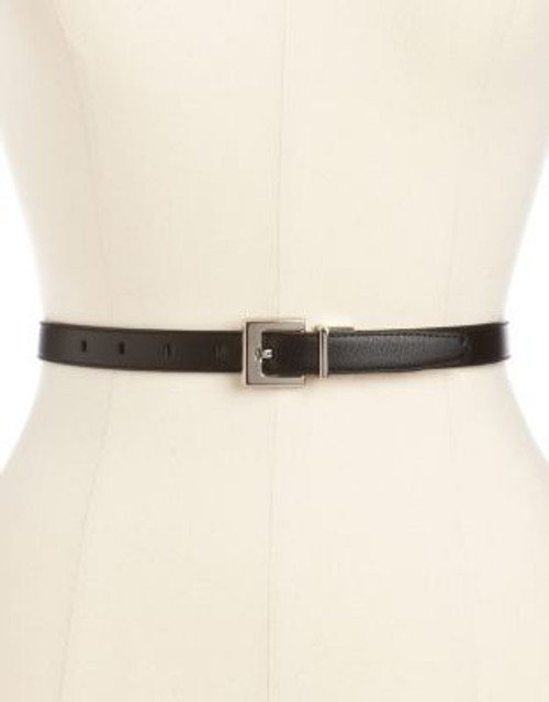 Calvin Klein Ladies Belt - BLACK/BROWN - MEDIUM