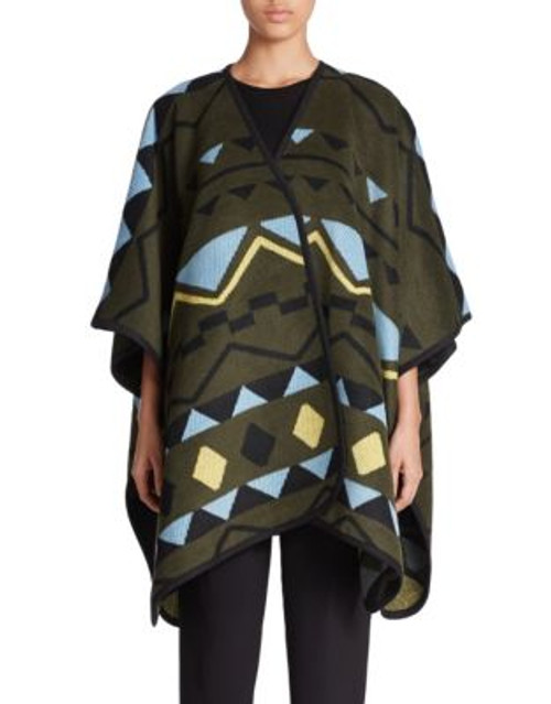 424 Fifth Nordic Jacquard Cape - FOREST NIGHT