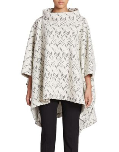 424 Fifth Chevron Poncho-IVORY - IVORY - LARGE/X-LARGE