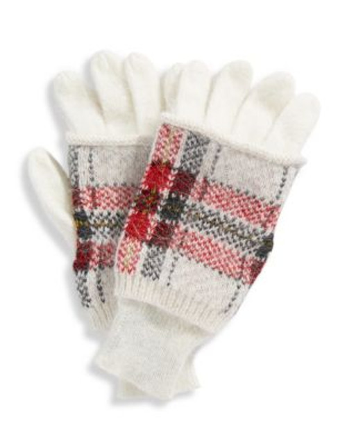 424 Fifth Tartan Gloves - IVORY