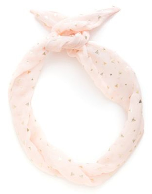 Bando Twist Scarf - BLUSH/GOLD