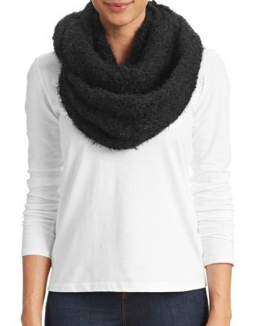 Calvin Klein Boucle Knit Infinity Scarf - BLACK