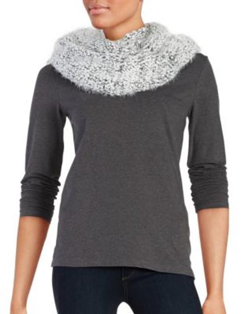 Calvin Klein Boucle Knit Infinity Scarf - CREME