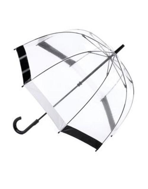 Fulton Birdcage Umbrella - BLACK/WHITE