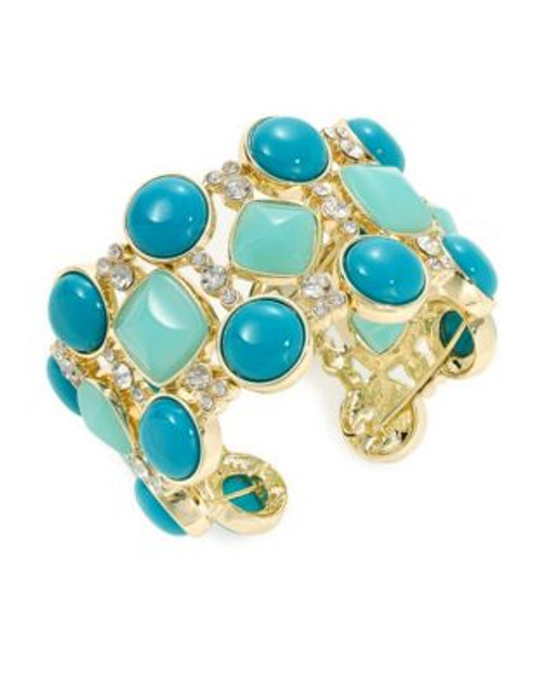 A.B.S. By Allen Schwartz Lattice Stone Cuff - BLUE