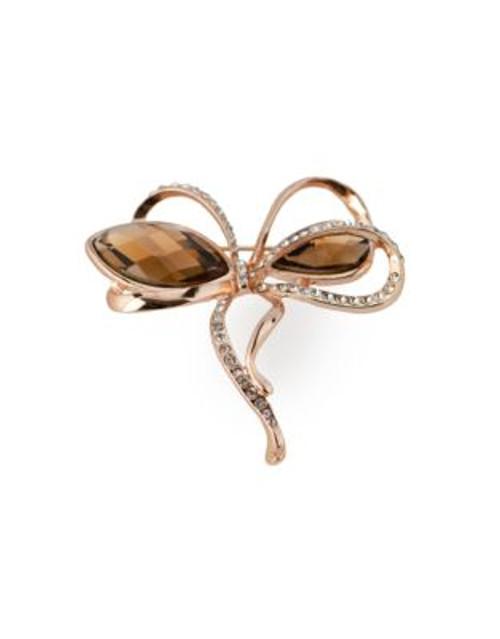 Jones New York Elegant Bow Pin - ROSE GOLD
