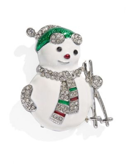 Jones New York Boxed Snowman Pin - ASSORTED