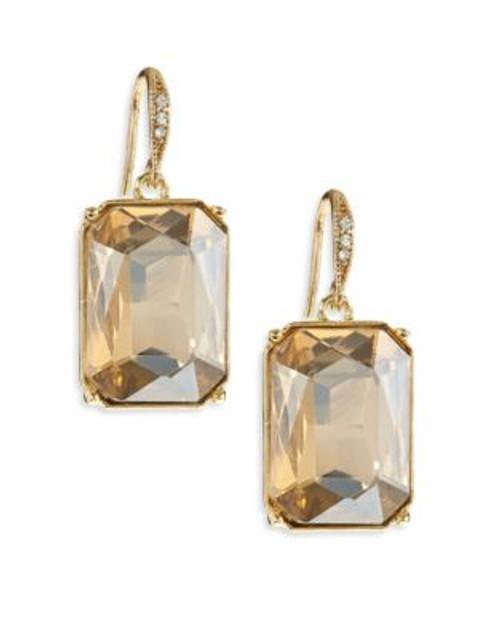 A.B.S. By Allen Schwartz Emerald Cut Stone Drop Earrings - BROWN