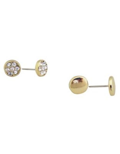 Anne Klein Duo Stud Earring Set - GOLD