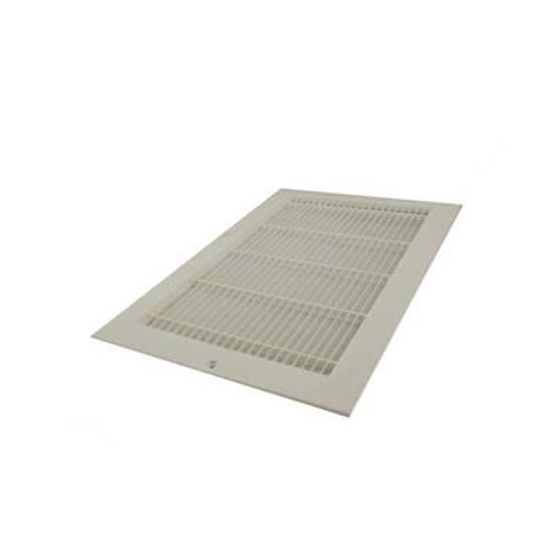 14 Inch x 8 inch White Plastic Sidewall Grille