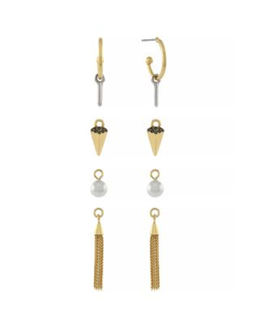 Bcbgeneration Charmageddon Hoop and Charm Earring Set - GOLD