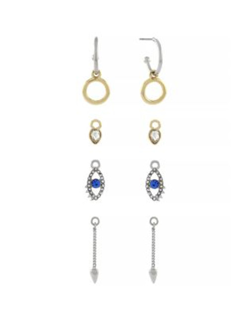 Bcbgeneration Starry Eyed Surprise Hoop and Charm Earring Set - ASSORTED