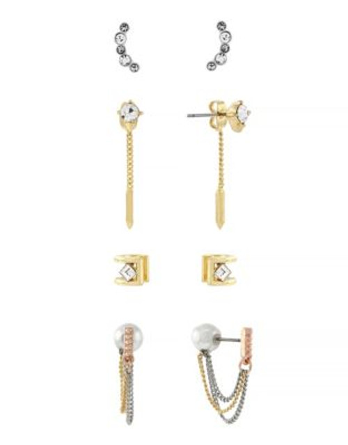 Bcbgeneration Pearl and Stone Earring Set - ASSORTED