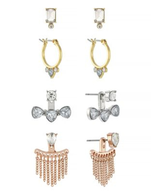 Bcbgeneration Tri-Tone Stone Earrings Set - ASSORTED