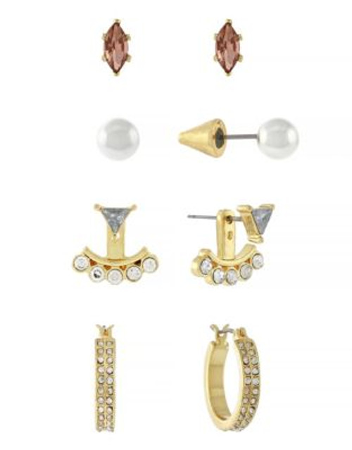 Bcbgeneration Peach and Crystal Earring Set - GOLD