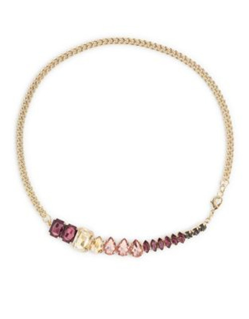 A.B.S. By Allen Schwartz Double Wrap Stone Row Bracelet - MULTI