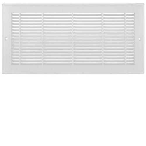 14 Inch x 6 inch White Plastic Sidewall Grille