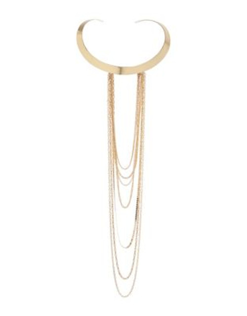 A.B.S. By Allen Schwartz Chain Swag Collar Necklace - GOLD