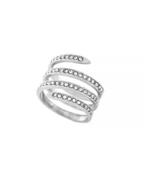 Bcbgeneration Jet Coil Silvertone Ring - SILVER - 7
