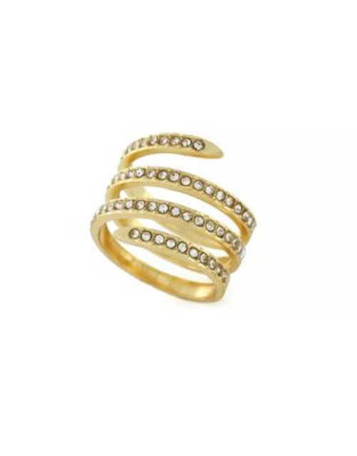 Bcbgeneration Jet Coil Goldtone Ring - GOLD - 7